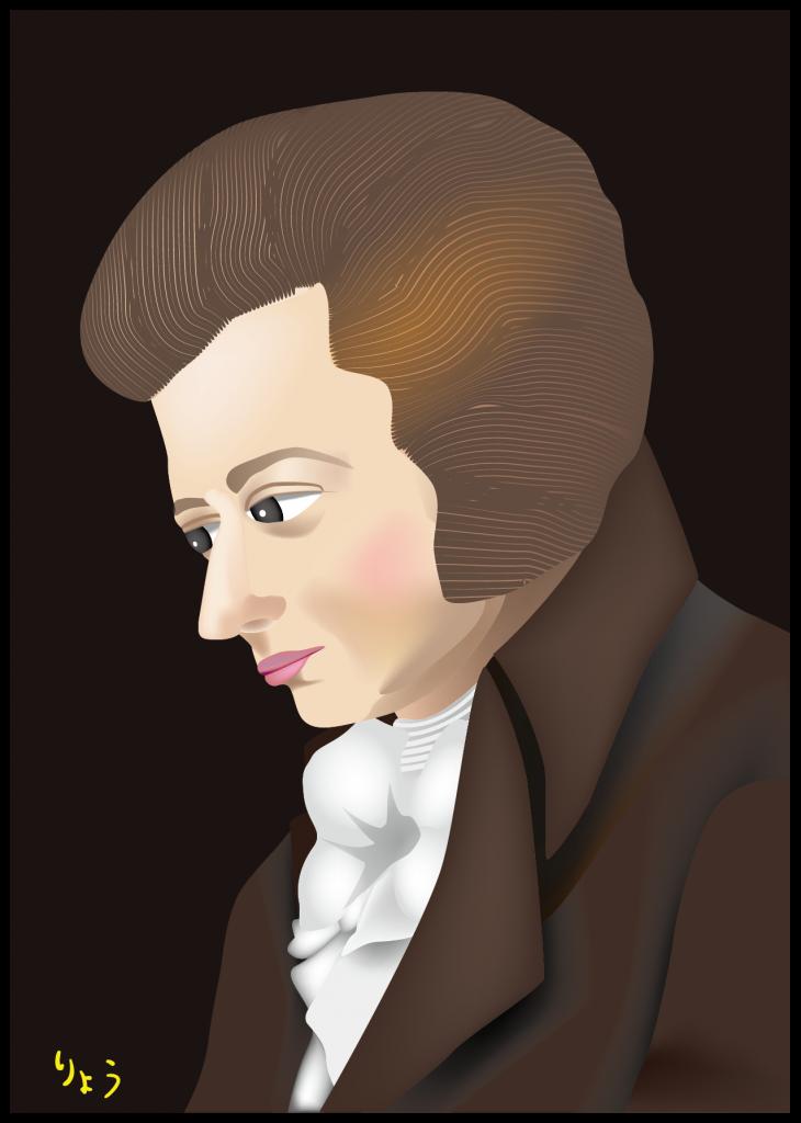 モーツアルト(ランゲによる肖像画より) Mozart