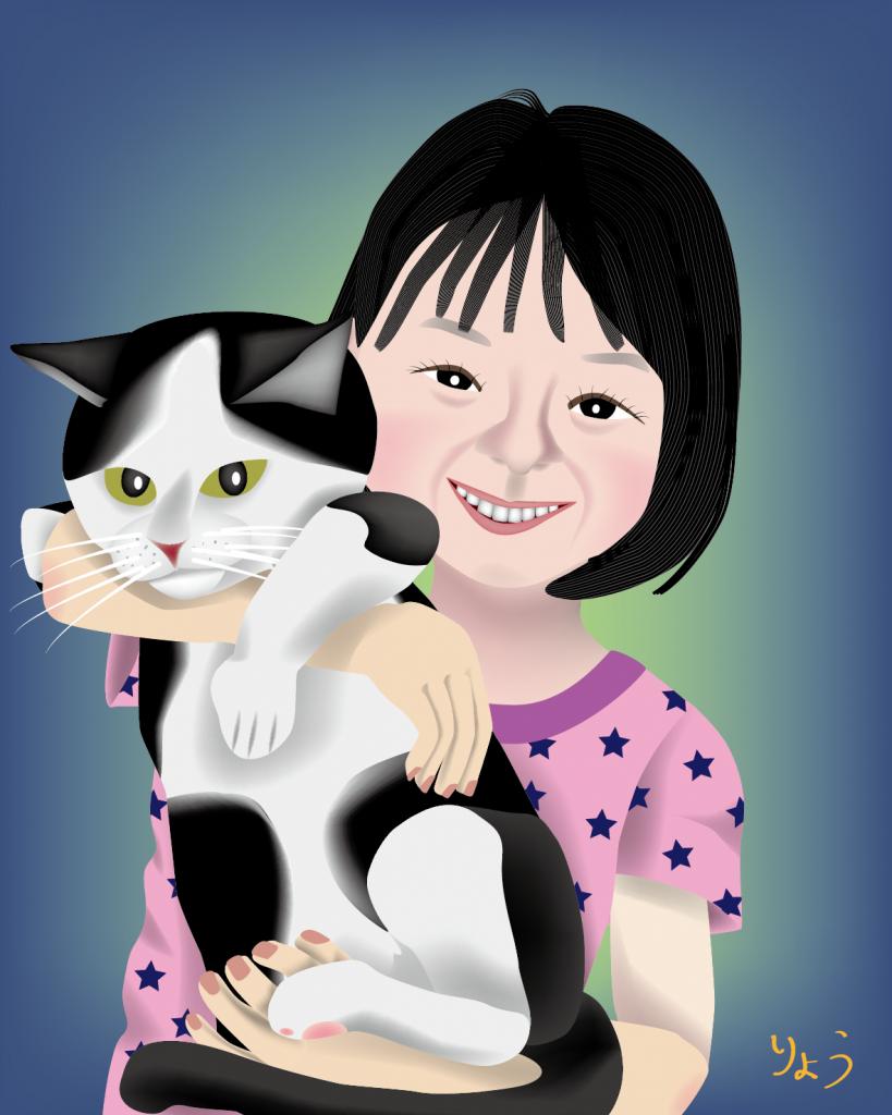 小説 『八重葎』 少女 ネコ