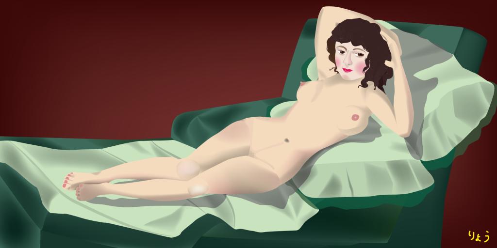 「裸のマハ」習作