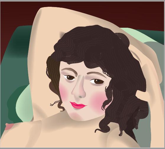 「裸のマハ」の顔部分のアップ