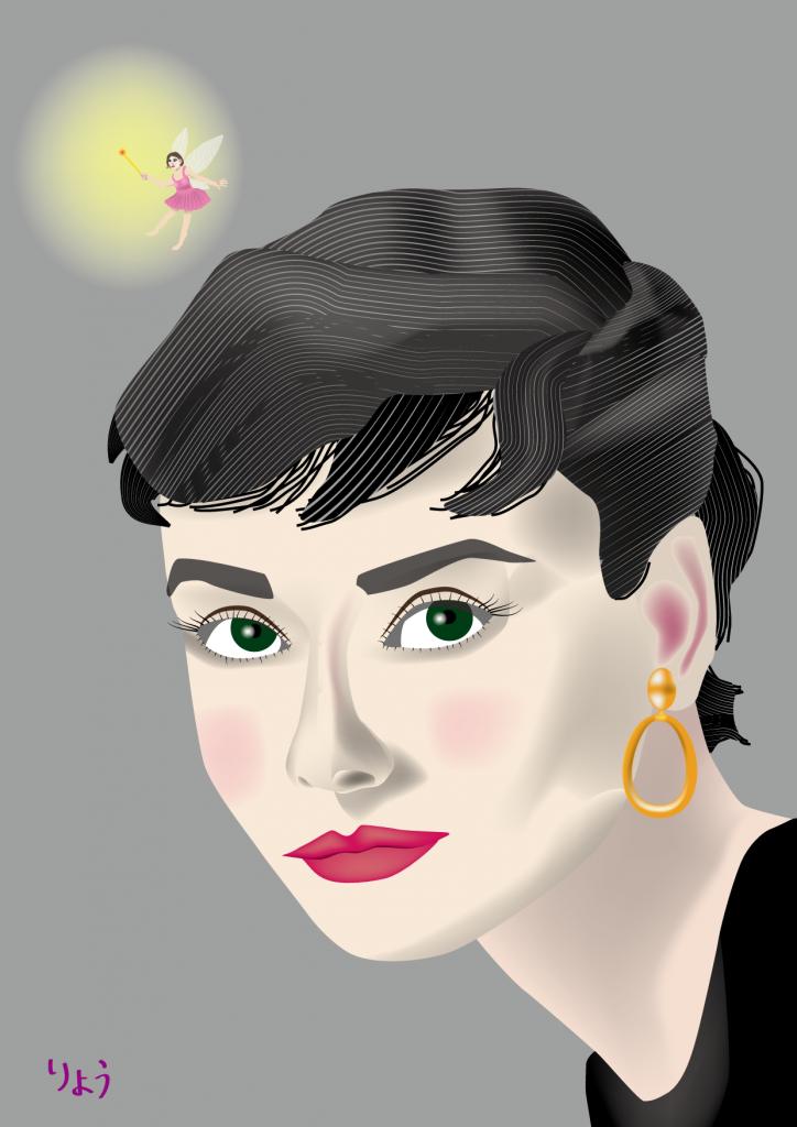 オードリー・ヘップバーン:ベクタ画像上で宝探し (Audrey Hepburn)