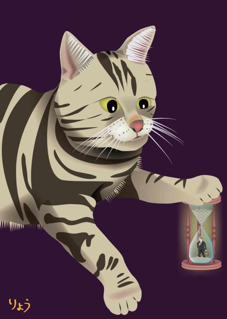 ネコと砂時計 (cat & sandglass)