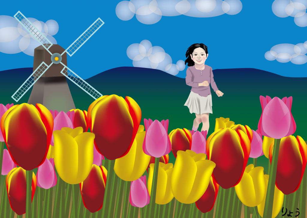 チューリップ畑 (tulip fields)
