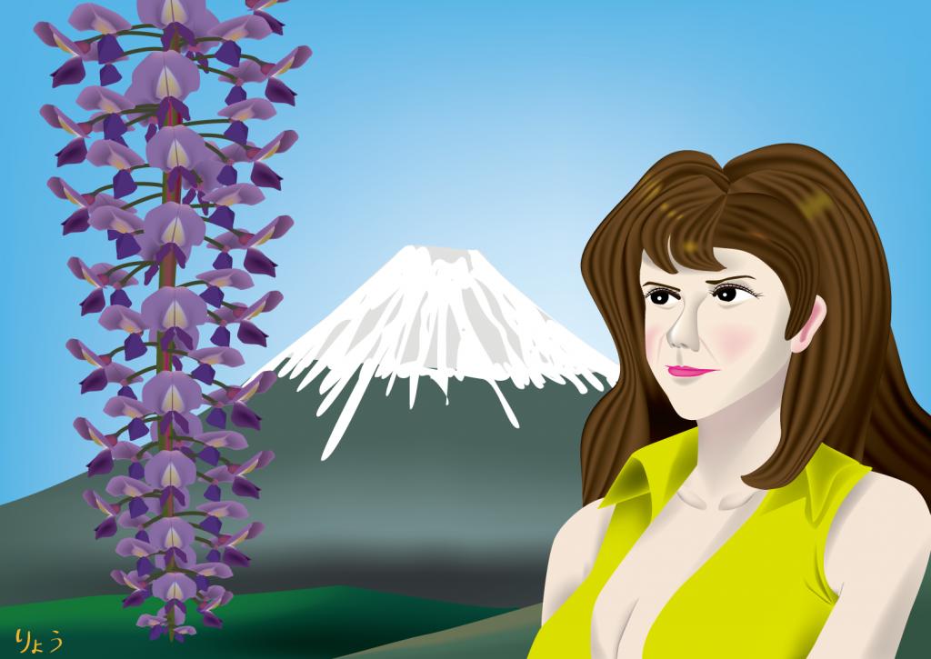 藤の花 峰不二子 富士山